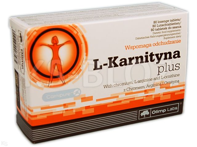 Olimp L-Karnityna Plus interakcje ulotka tabletki do ssania  80 tabl.