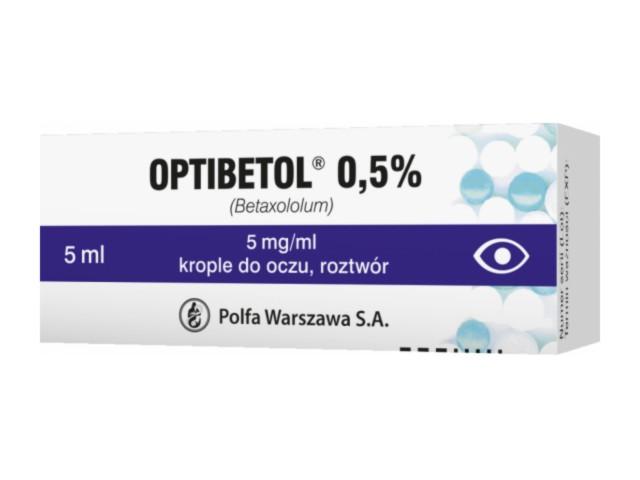 Optibetol 0.5% interakcje ulotka krople do oczu, roztwór 5 mg/ml 5 ml
