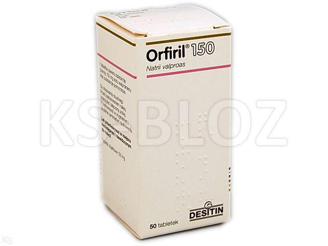 Orfiril 150 interakcje ulotka tabletki dojelitowe 0,15 g 50 tabl.
