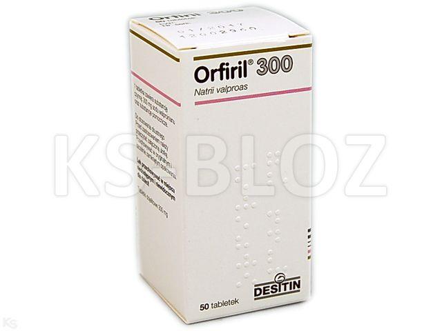 Orfiril 300 interakcje ulotka tabletki dojelitowe 0,3 g 50 tabl.