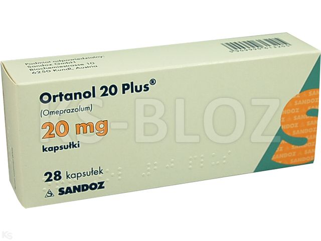 Ortanol 20 Plus interakcje ulotka kapsułki dojelitowe twarde 0,02 g 28 kaps.