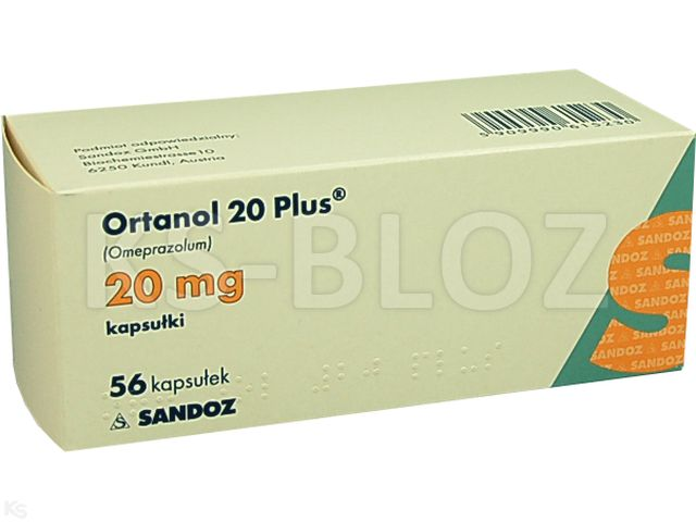 Ortanol 20 Plus interakcje ulotka kapsułki dojelitowe twarde 0,02 g 56 kaps. | 8 blist.po 7 szt.