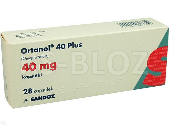 Ortanol 40 Plus interakcje ulotka kapsułki dojelitowe twarde 0,04 g 28 kaps.