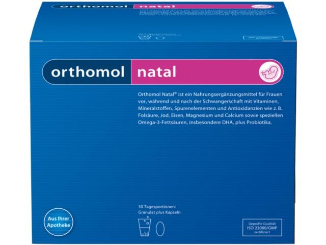 Orthomol Natal interakcje ulotka proszek do sporządzania roztworu doustnego i kapsułki miękkie 15,6 g 30 sasz. | podwójnych+30kaps.