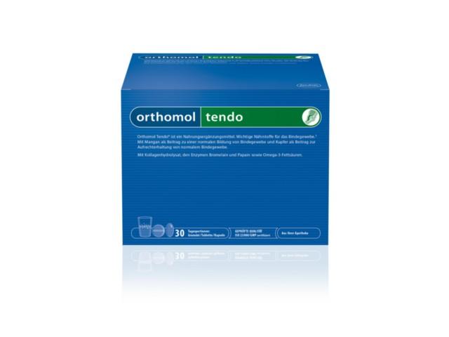 Orthomol Tendo interakcje ulotka proszek do sporządzania roztworu doustnego i kapsułki i tabletki 19 g 30 sasz. | podwój.