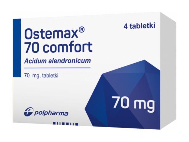 Ostemax 70 comfort interakcje ulotka tabletki 0,07 g 4 tabl.