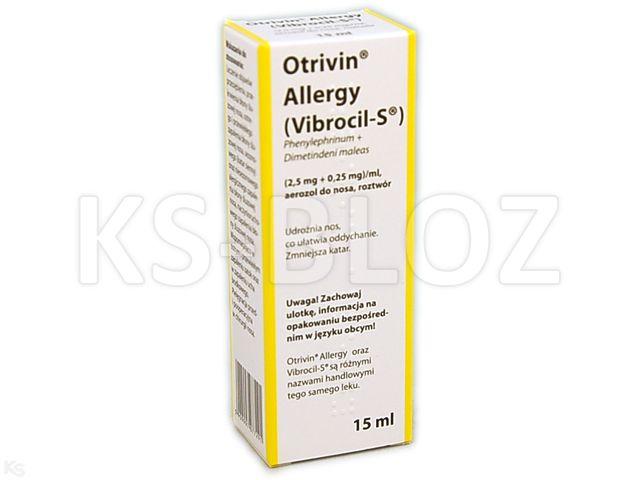 Otrivin Allergy interakcje ulotka aerozol do nosa (2,5mg+0,25mg)/ml 15 ml
