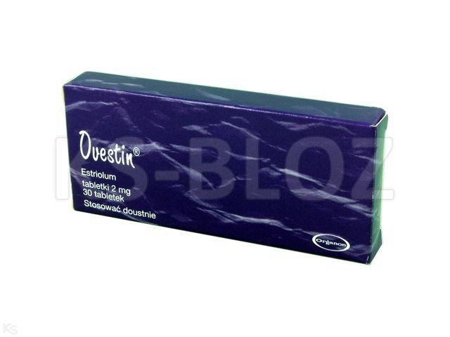 Ovestin interakcje ulotka tabletki 2 mg 30 tabl.