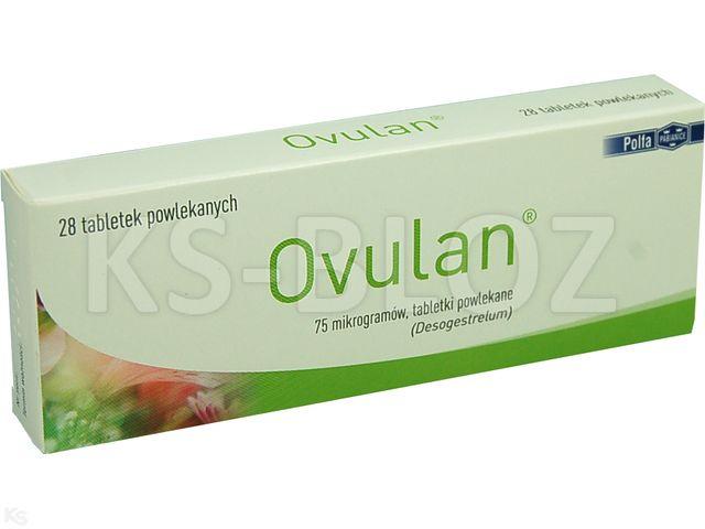Ovulan interakcje ulotka tabletki powlekane 0,075 mg 28 tabl.