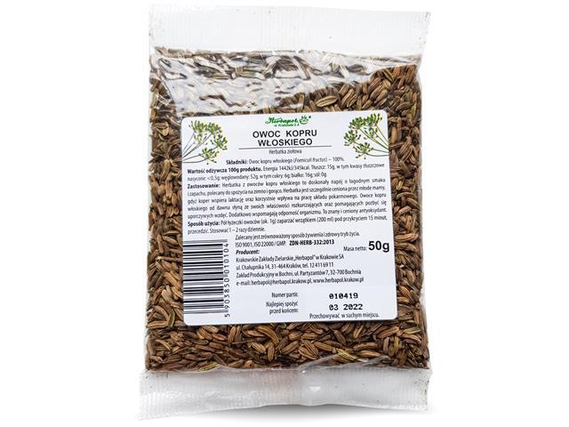 OWOC KOPRU WŁOSKIEGO Herbatka ziołowa interakcje ulotka   50 g