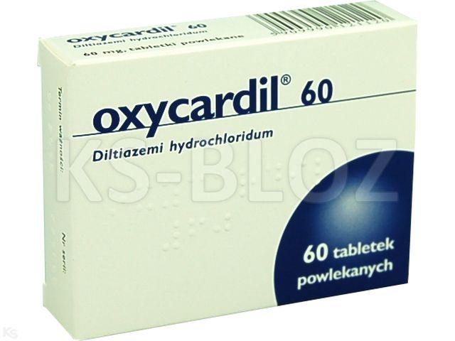 Oxycardil 60 interakcje ulotka tabletki powlekane 0,06 g 60 tabl.