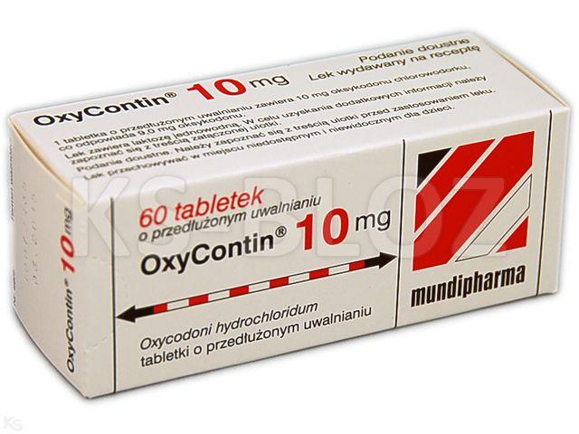 OxyContin interakcje ulotka tabletki o przedłużonym uwalnianiu 0,01 g 60 tabl. | 6 blist.po 10 szt.