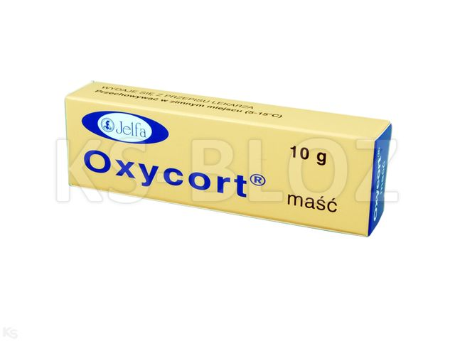 Oxycort interakcje ulotka maść (0,01g+0,03g)/g 10 g