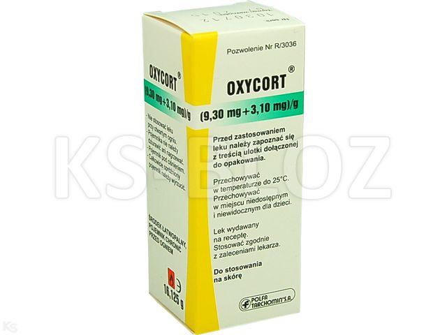 Oxycort interakcje ulotka aerozol na skórę, zawiesina (3,1mg+9,3mg)/g 30 ml