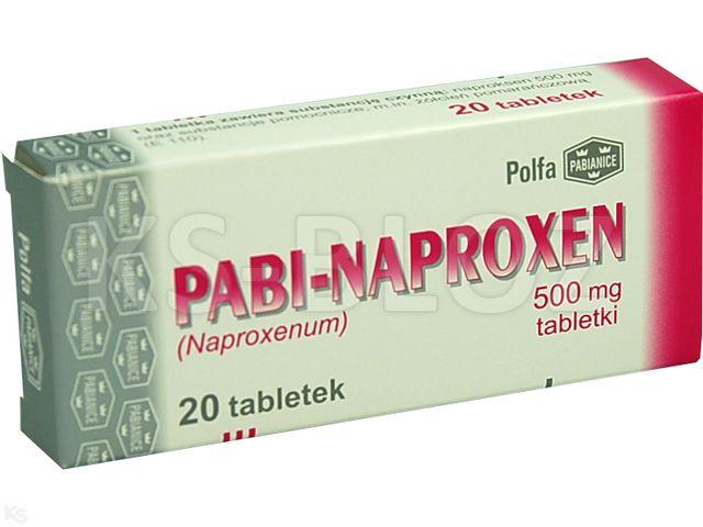 Pabi-Naproxen interakcje ulotka tabletki 0,5 g 20 tabl.