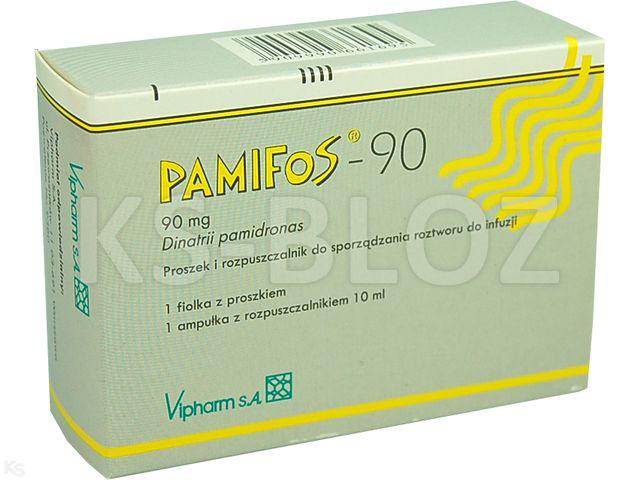 Pamifos-90 interakcje ulotka proszek i rozpuszczalnik do sporządzania roztworu do infuzji 0,09 g 1 fiol.s.subs. po 10 ml