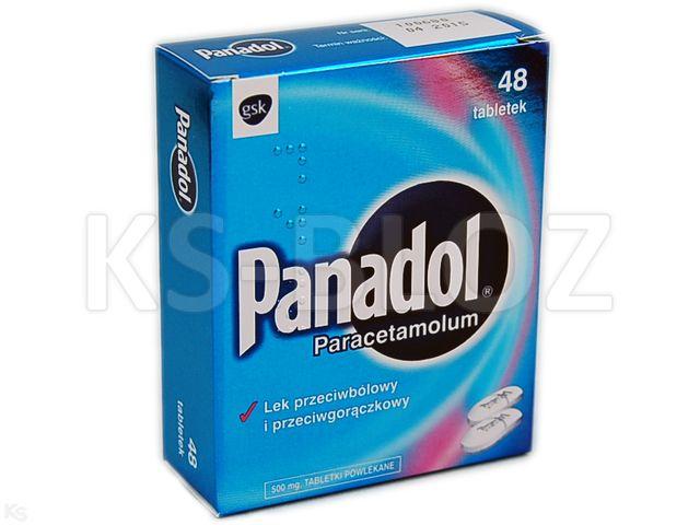 Panadol interakcje ulotka tabletki powlekane 0,5 g 48 tabl.