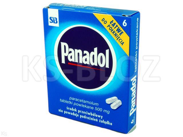 Panadol interakcje ulotka tabletki powlekane 0,5 g 6 tabl.