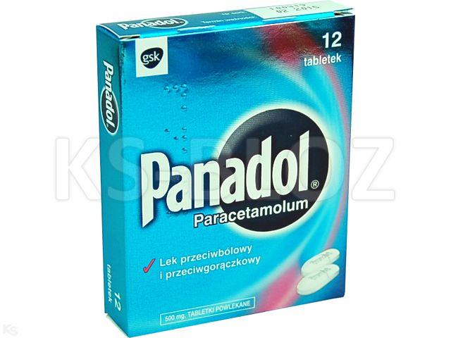 Panadol interakcje ulotka tabletki powlekane 0,5 g 12 tabl.