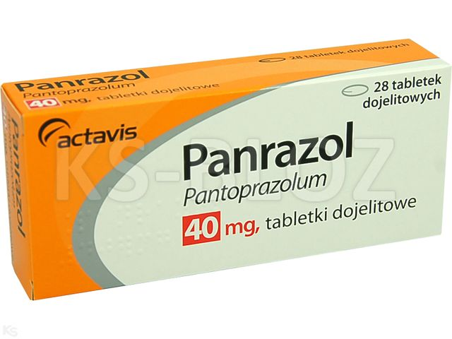 Panrazol interakcje ulotka tabletki dojelitowe 0,04 g 28 tabl.   4 blist.po 7 szt.