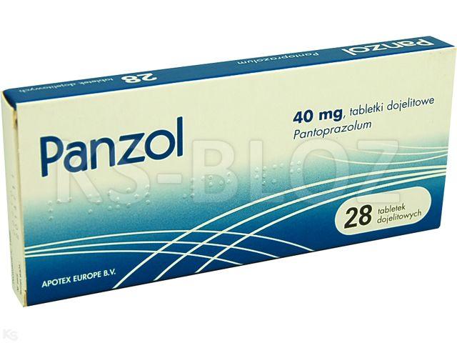 Panzol interakcje ulotka tabletki dojelitowe 0,04 g 28 tabl.