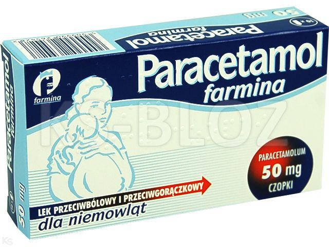 Paracetamol Farmina interakcje ulotka czopki doodbytnicze 0,05 g 10 czop.