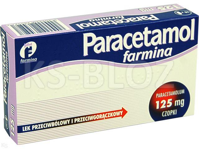 Paracetamol Farmina interakcje ulotka czopki doodbytnicze 0,125 g 10 czop.