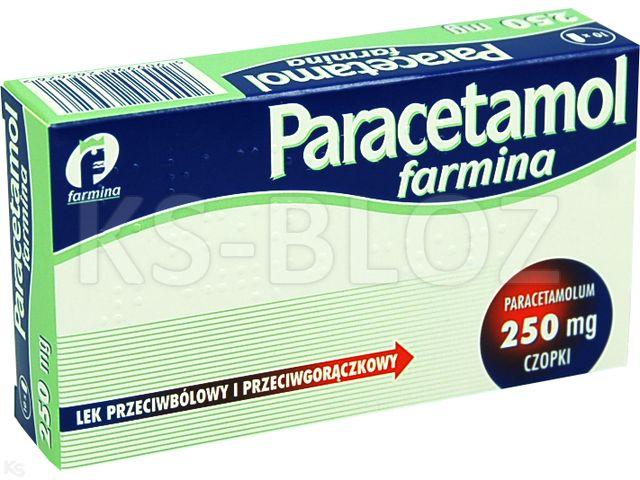 Paracetamol Farmina interakcje ulotka czopki doodbytnicze 0,25 g 10 czop.