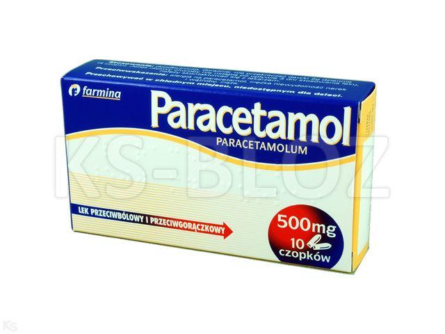 Paracetamol Farmina interakcje ulotka czopki doodbytnicze 0,5 g 10 czop.