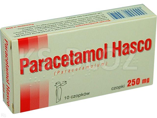 Paracetamol Hasco interakcje ulotka czopki doodbytnicze 0,25 g 10 czop.