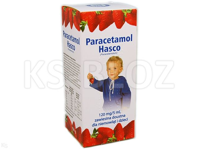 Paracetamol Hasco interakcje ulotka zawiesina doustna 0,12 g/5ml 150 g