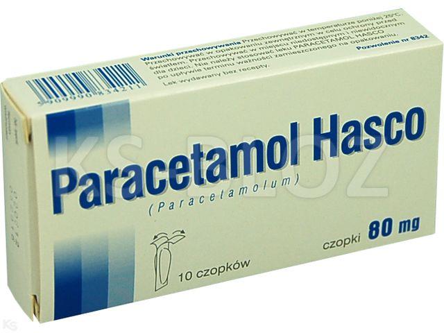 Paracetamol Hasco interakcje ulotka czopki doodbytnicze 0,08 g 10 czop.