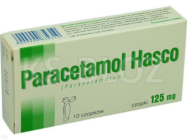 Paracetamol Hasco interakcje ulotka czopki doodbytnicze 0,125 g 10 czop.