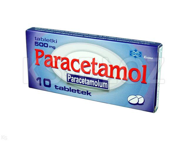 Paracetamol Polfarmex interakcje ulotka tabletki 0,5 g 10 tabl.