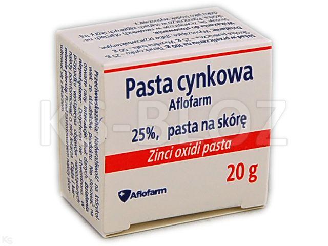 Pasta cynkowa Aflofarm 25 % interakcje ulotka pasta na skórę  20 g