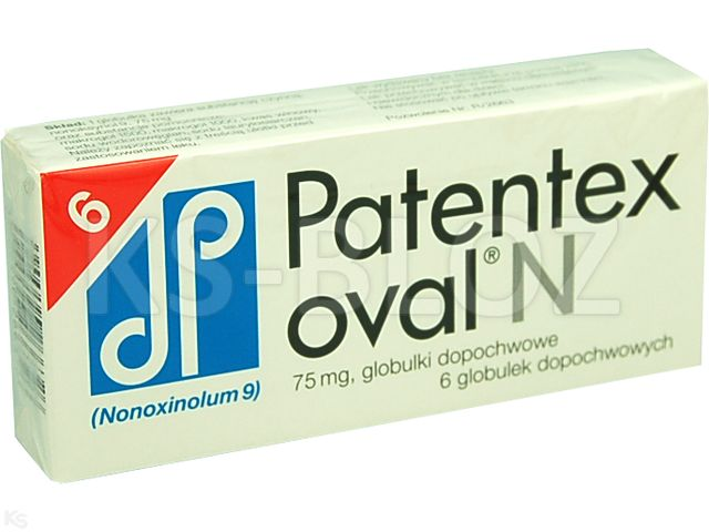 Patentex Oval N interakcje ulotka globulki dopochwowe 0,075 g 6 glob.