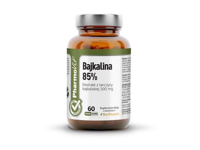 Pharmovit Bajkalina 85% interakcje ulotka kapsułki  60 kaps. | butelka ze szkła