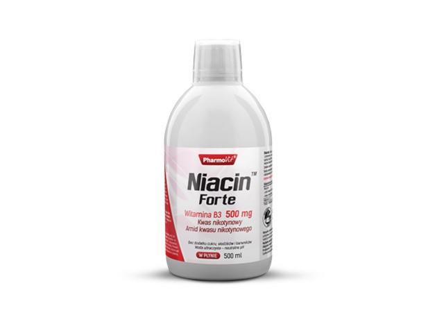 Pharmovit Niacin Forte Witamina B3 500 mg interakcje ulotka płyn  500 ml