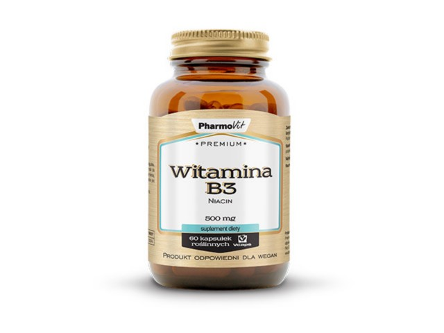 Pharmovit Premium Witamina B3 niacyna interakcje ulotka kapsułki  60 kaps.