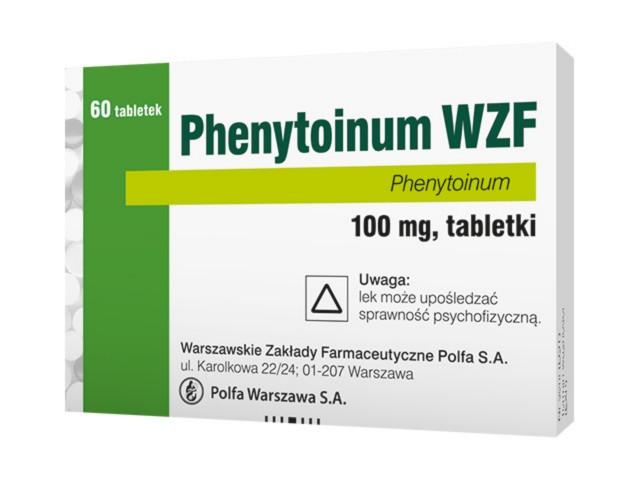 Phenytoinum WZF interakcje ulotka tabletki 0,1 g 60 tabl. | 4 blist.po 15szt.