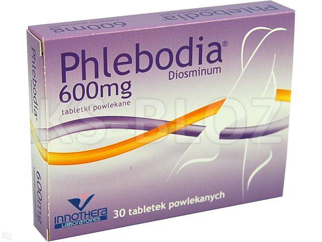 Phlebodia interakcje ulotka tabletki powlekane 0,6 g 30 tabl.