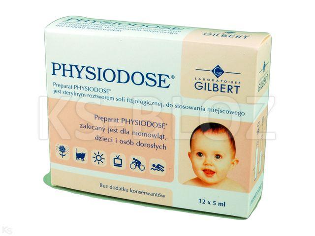Physiodose d/przem.oczu i oczyszcz.nosa interakcje ulotka płyn  12 amp. po 5 ml