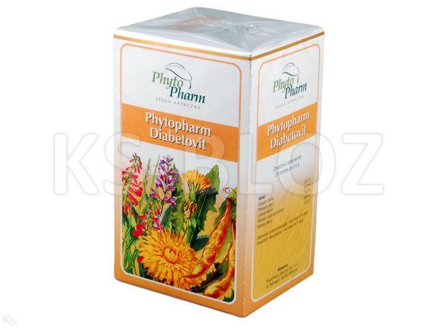 Phytopharm Diabetovit interakcje ulotka zioła do zaparzania w saszetkach 2 g 20 toreb.