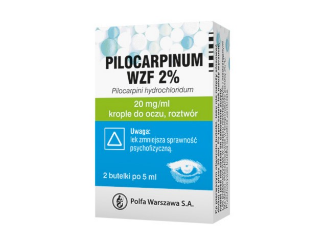 Pilocarpinum WZF 2% interakcje ulotka krople do oczu, roztwór 0,02 g/ml 10 ml