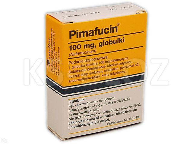 Pimafucin interakcje ulotka globulki dopochwowe 0,1 g 3 glob.