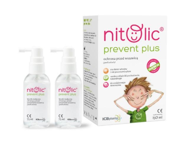 Pipi Nitolic Prevent Plus Ochrona przed wszawicą interakcje ulotka spray  150 ml