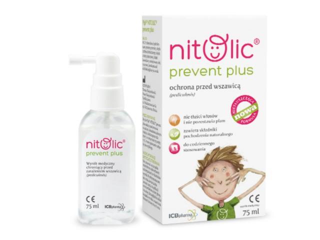 Pipi Nitolic Prevent Plus Ochrona przed wszawicą interakcje ulotka spray  75 ml