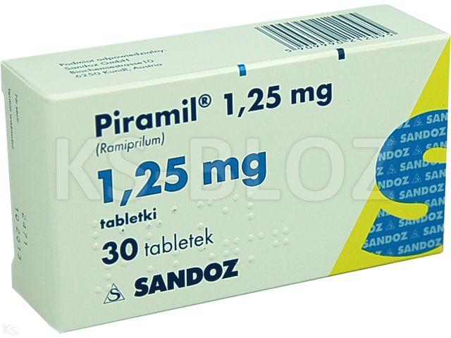 Piramil 1,25mg interakcje ulotka tabletki 1,25 mg 30 tabl.