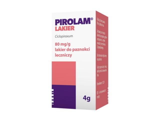 Pirolam interakcje ulotka lakier do paznokci leczniczy 0,08 g/g 4 g