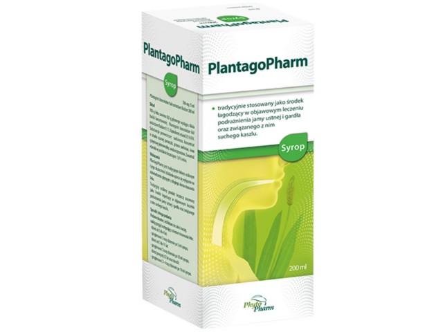 PlantagoPharm interakcje ulotka syrop 0,506 g/5ml 200 ml
